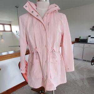 J Crew Perfect Rain Trench Jacket Blush Pink PXS